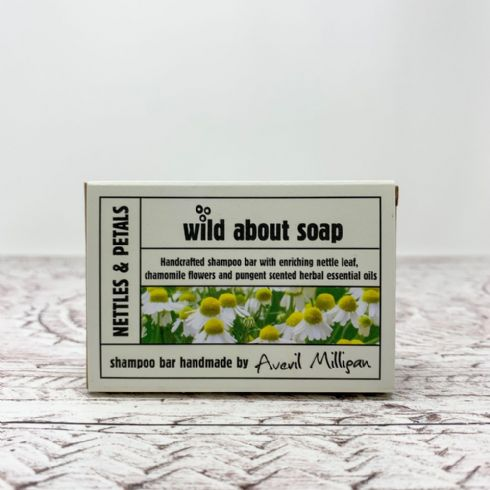 Averil Milligan - Wild About Soap Natural Nettles & Petals Shampoo Bar
